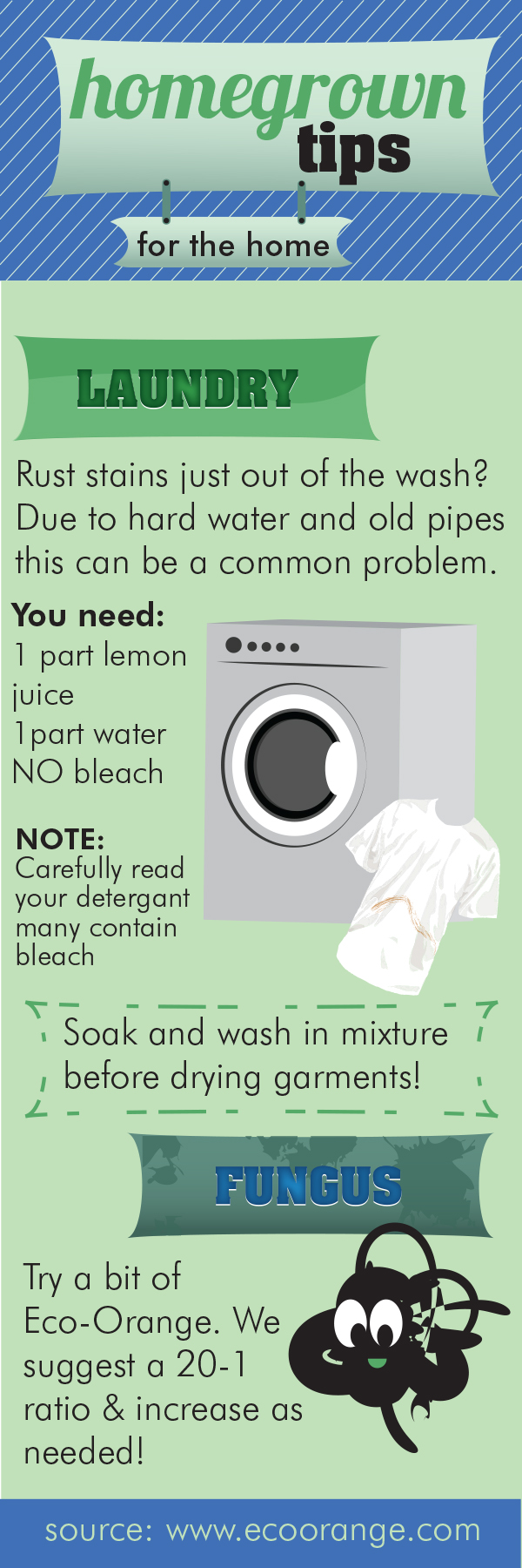 Home-Grown Tips- Laundry