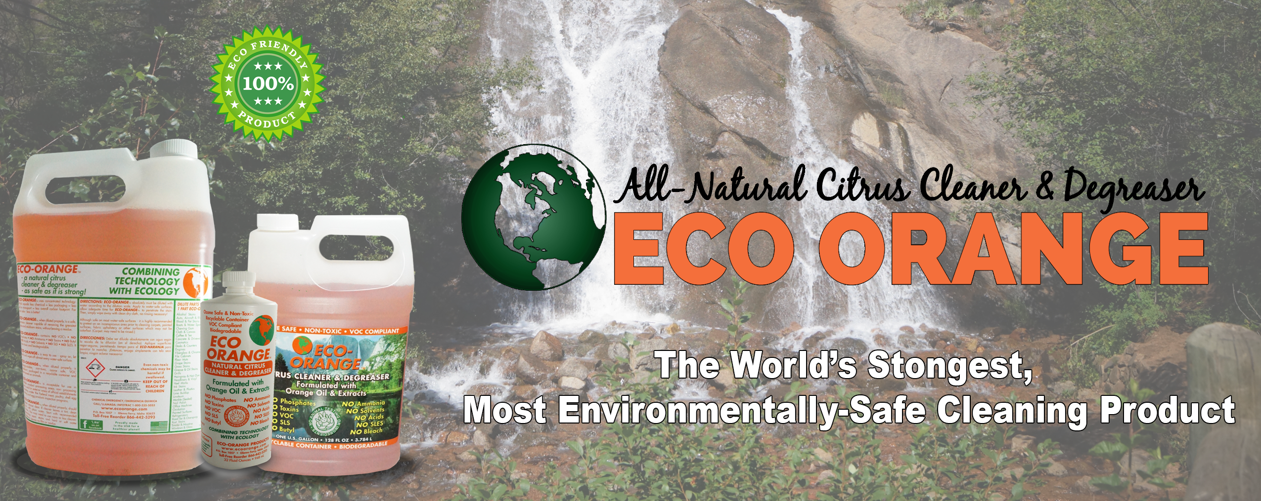 Eco Orange new Logo With Aerial Black Font